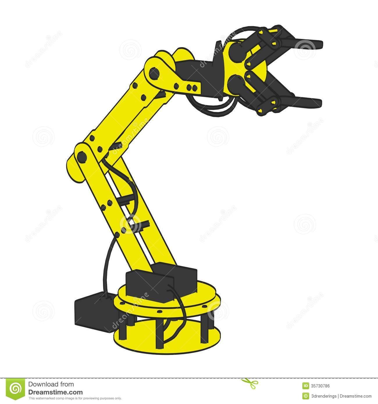 Cartoon Robot Arm Stock Photos, Images, & Pictures.