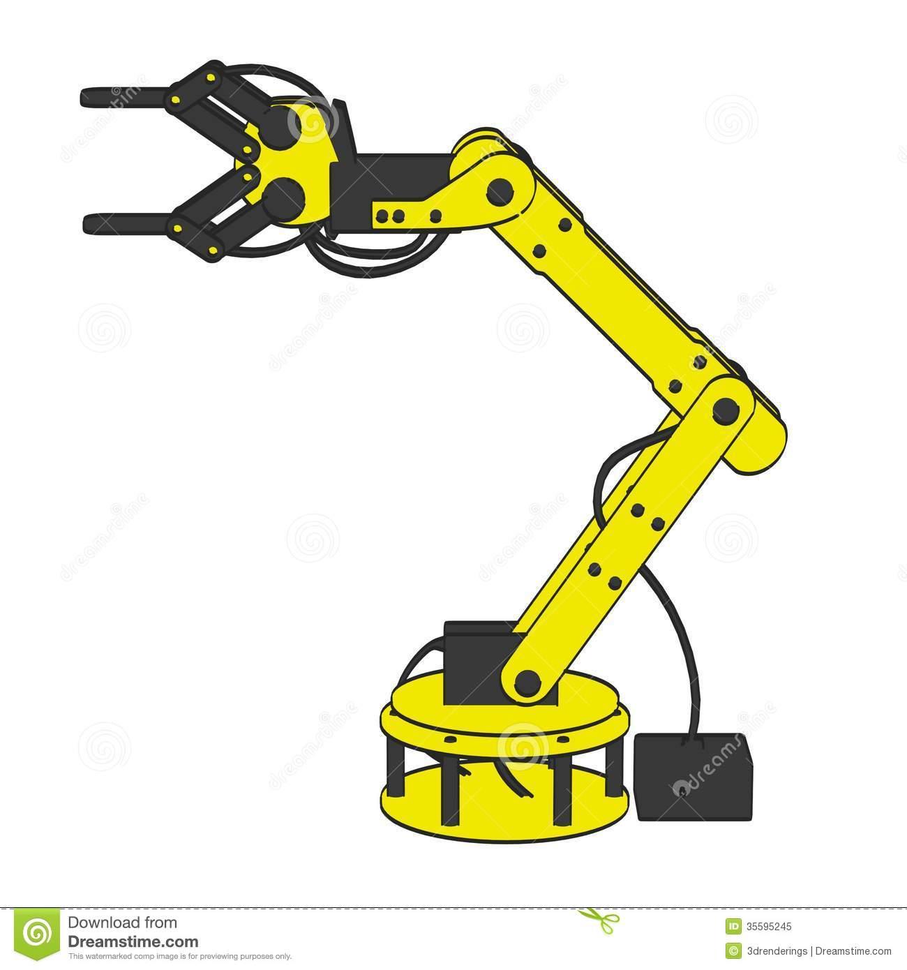 Robot arm clipart.