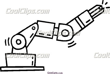 Robot Arm Free Clipart.