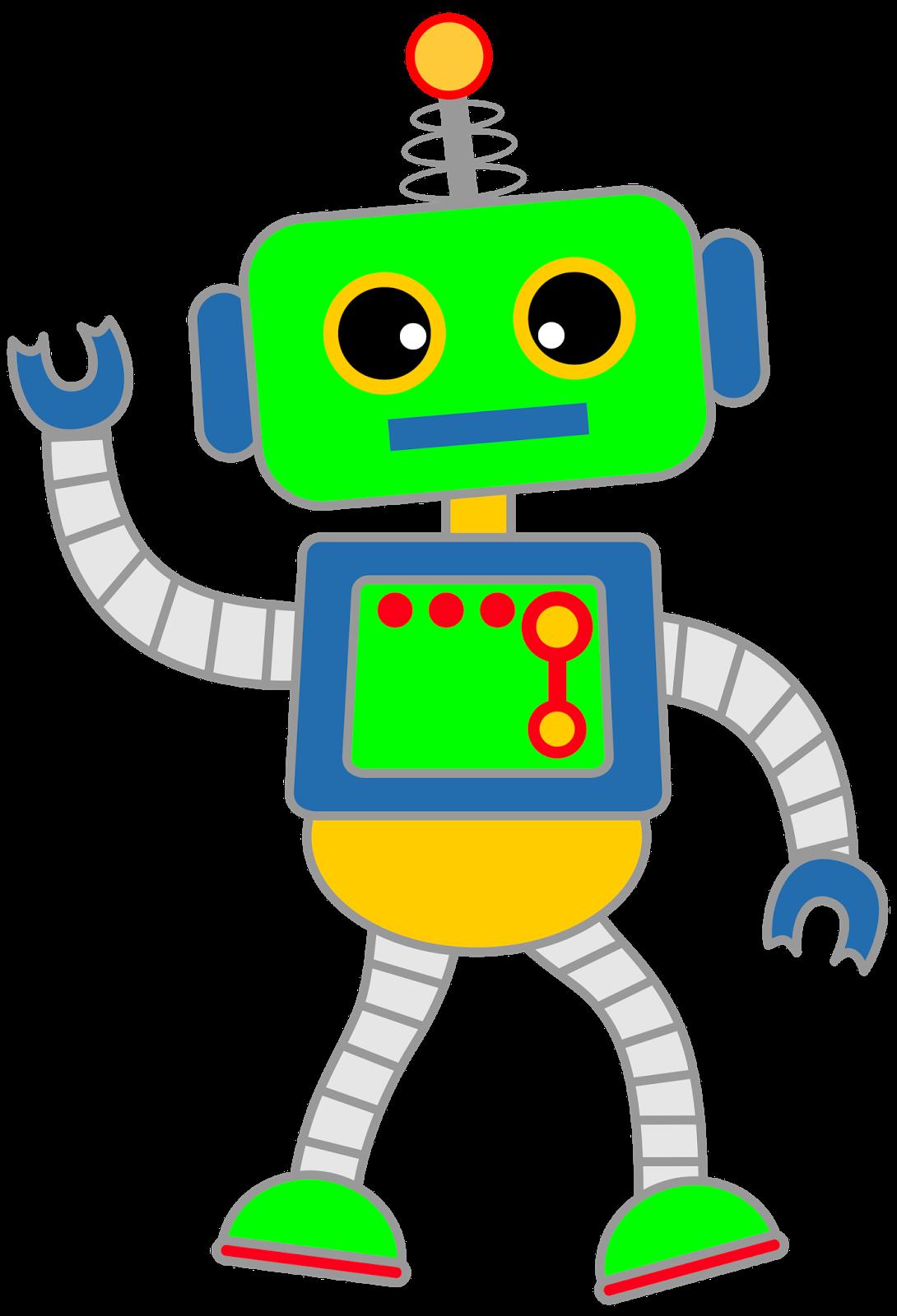 630 Robots free clipart.