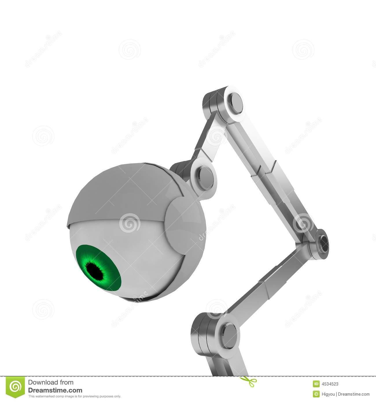 Robotic Eye Stock Image.