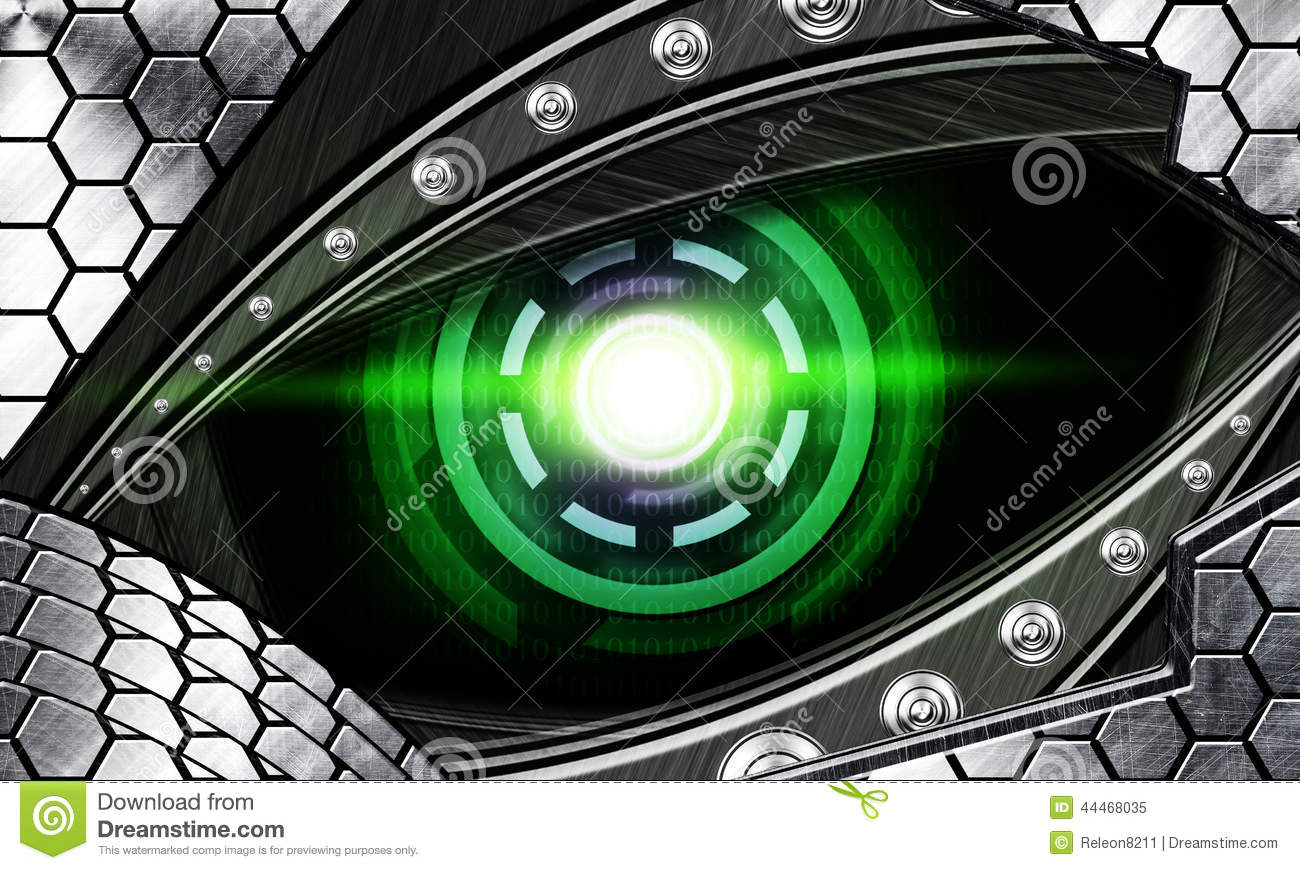 Abstract Robot Eye Stock Illustration.
