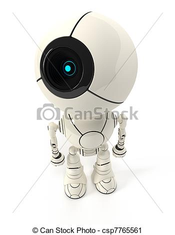 Clipart of Webcam robot view from top.