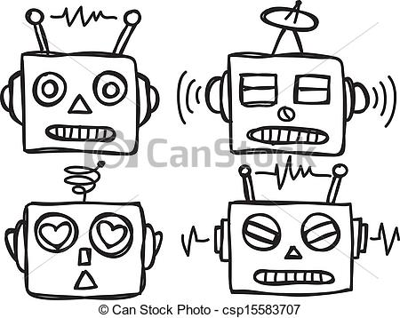Robot face clipart 1 » Clipart Station.