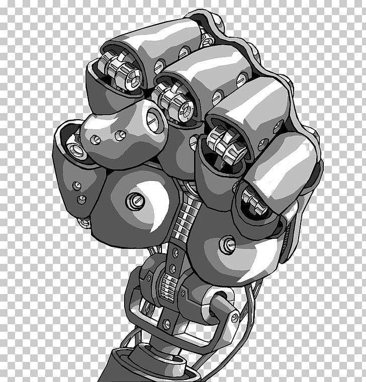 Robotic arm Prosthesis Cyborg, Mechanical arm, animated.