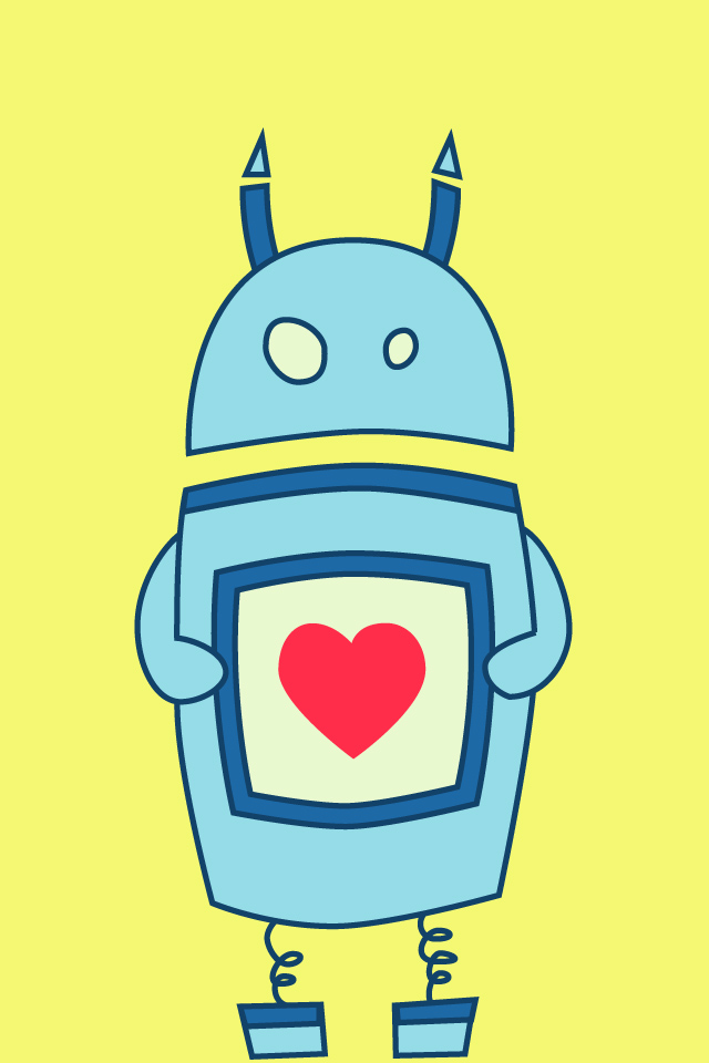 My Grinning Mind: Cute Clumsy Robot With Heart.