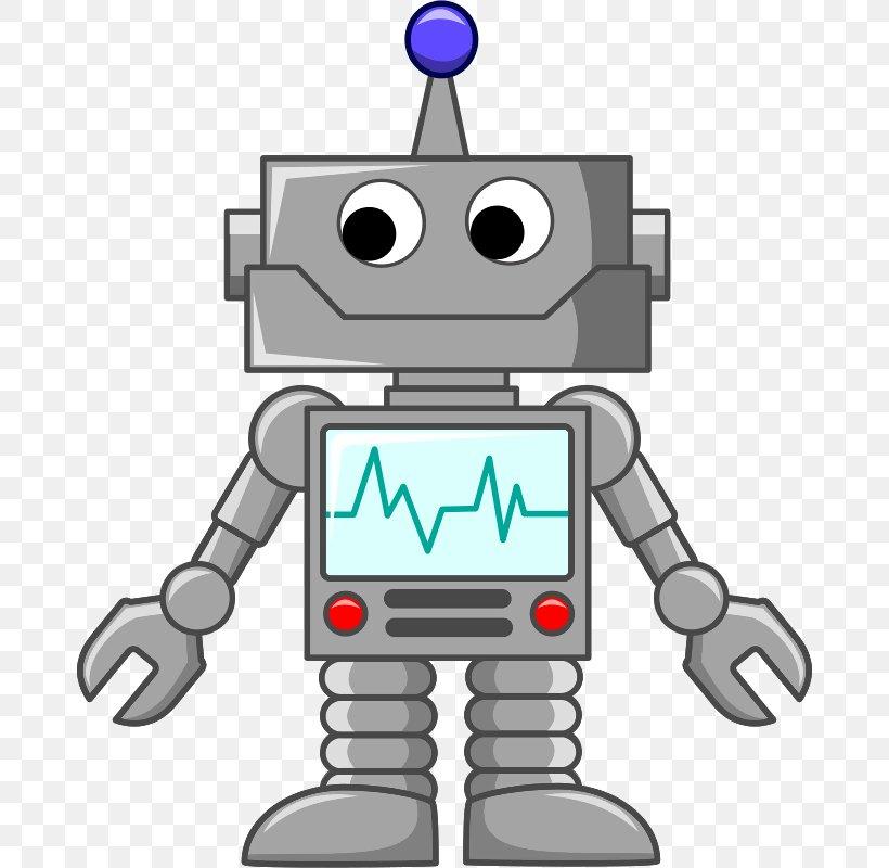Robot Cartoon Clip Art, PNG, 678x800px, Robot, Android.
