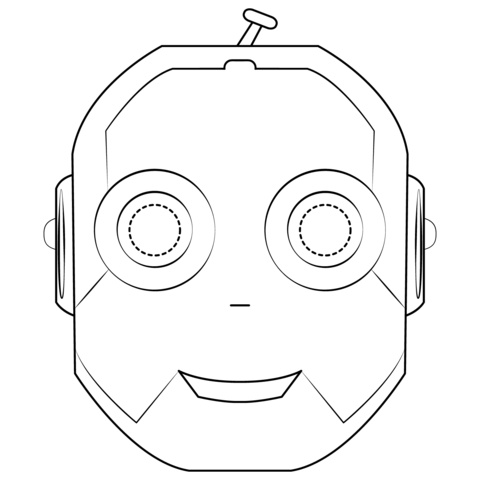 Robot Mask coloring page.