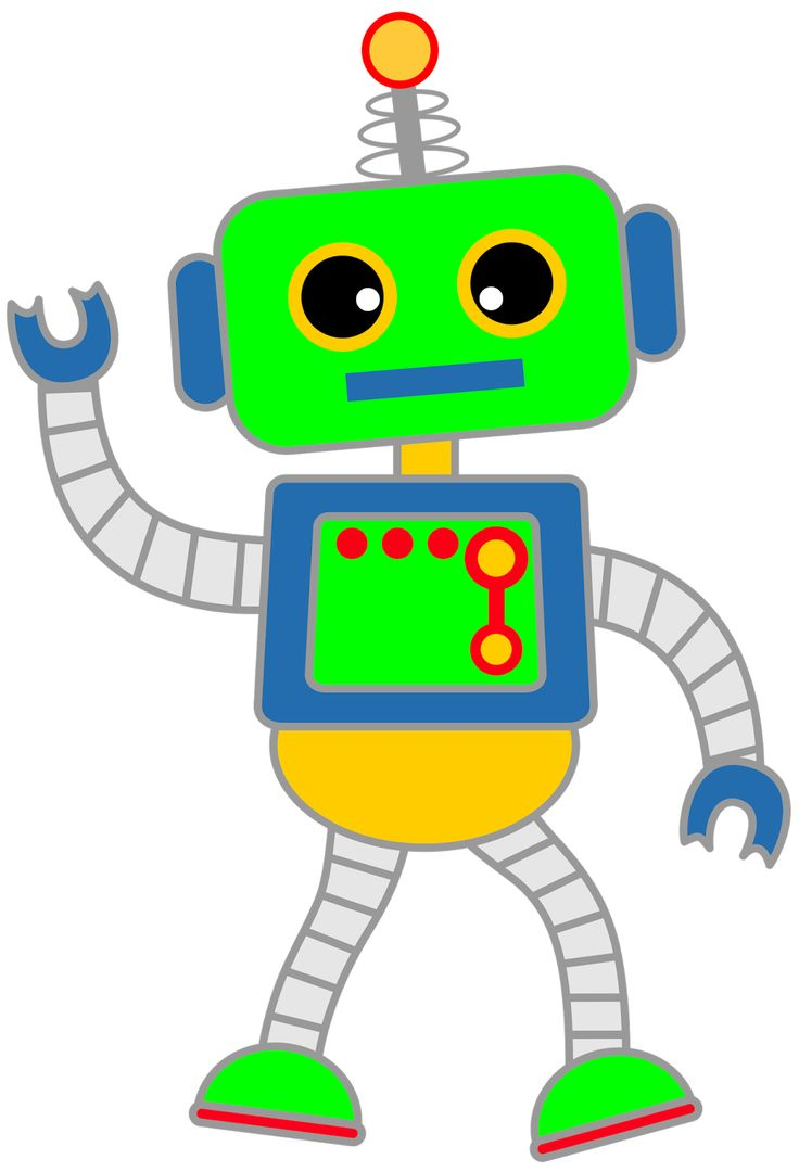 4219 Robot free clipart.
