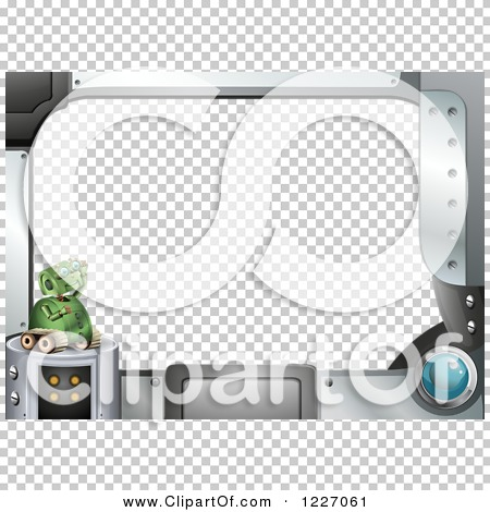 Clipart of a Futuristic Computer Screen and Robot Frame.