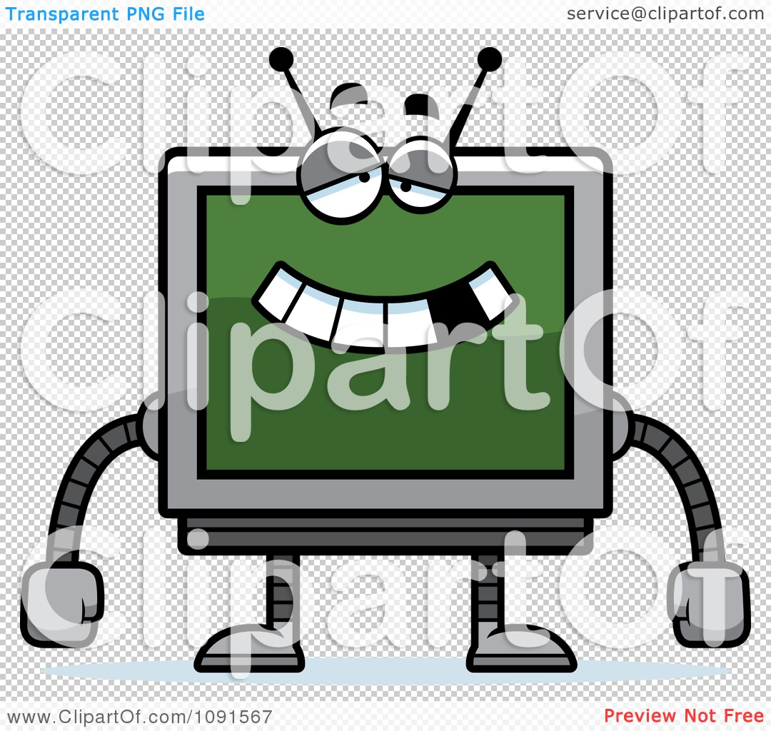 Clipart Dumb Screen Robot.