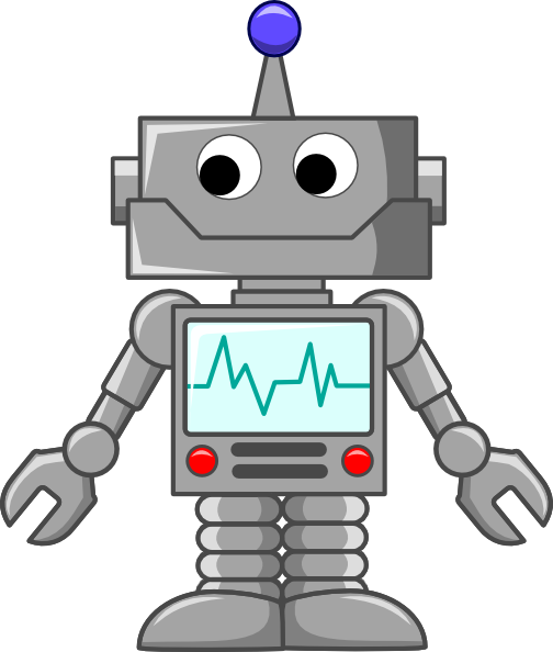 Cartoon Robot Clip Art at Clker.com.