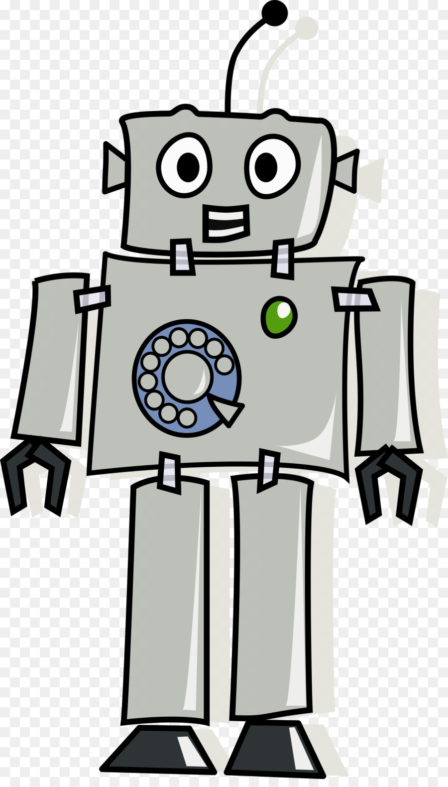 Robot Cartoon png download.