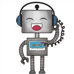 Robots Clip Art Clipart, Retro Robot Party Clipart Clip Art.
