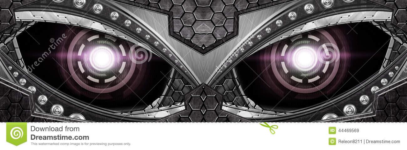 Abstract Robot Eye Stock Photo.