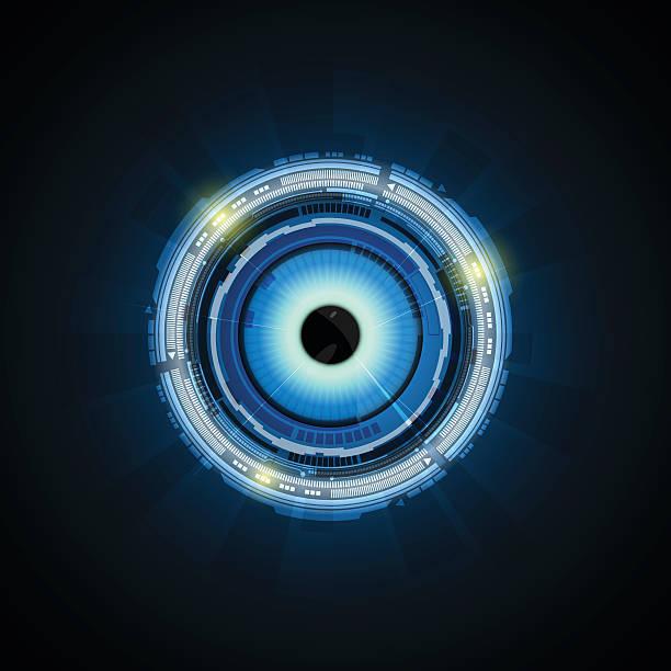 Robotic Eye Clip Art, Vector Images & Illustrations.