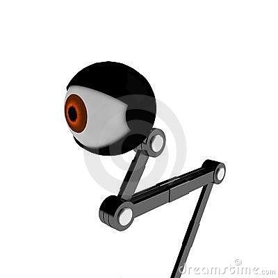 Black Robotic Eye Stock Illustrations.