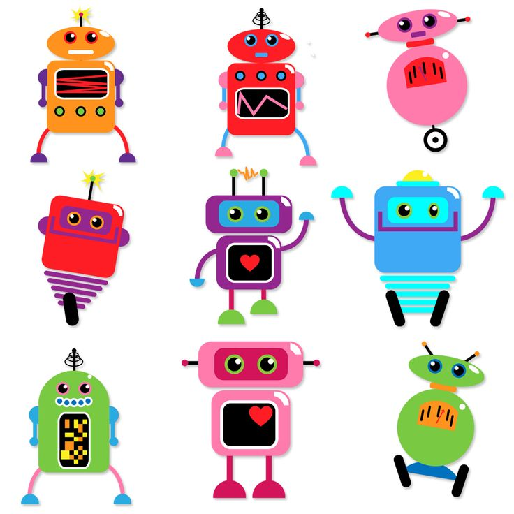 Robots Clipart and Vectors TulipWorks robot printables.