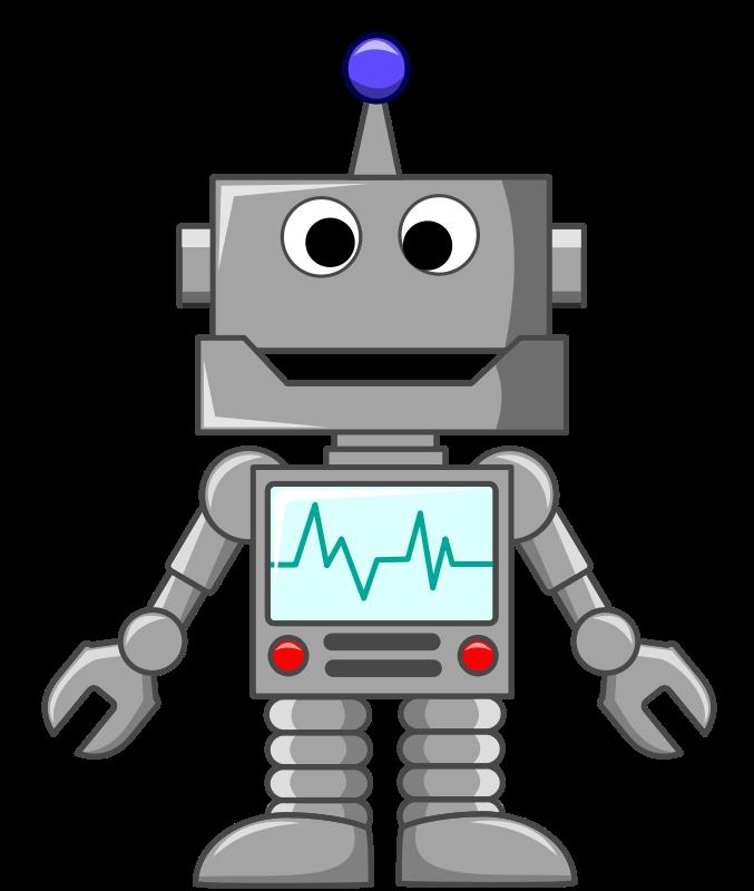 Robot clipart image cartoon robot image.