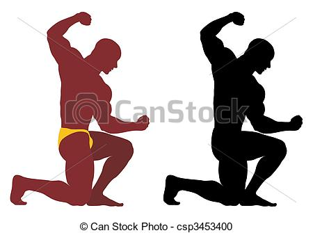 Vector Clipart of Bodybuilder.
