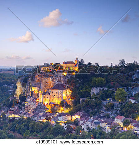 Stock Photography of Rocamadour Midi.