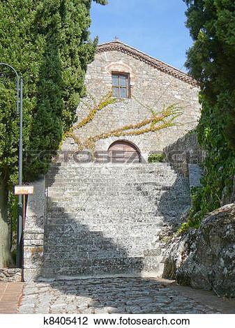 Stock Photo of Rocca di Castiglione Orcia, Italy k8405412.