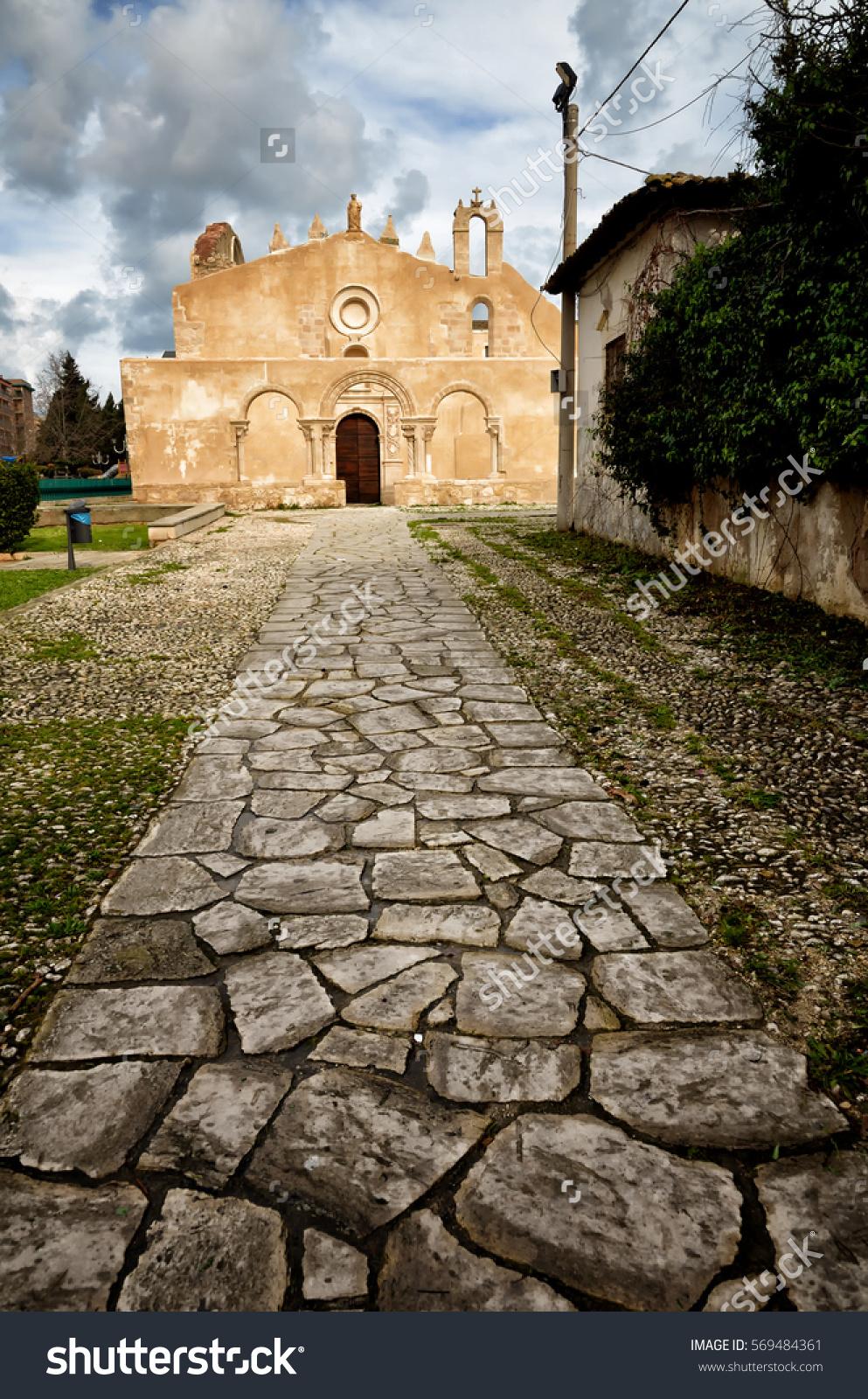 Siracusa Sicily Church San Giovanni Italian Stock Photo 569484361.