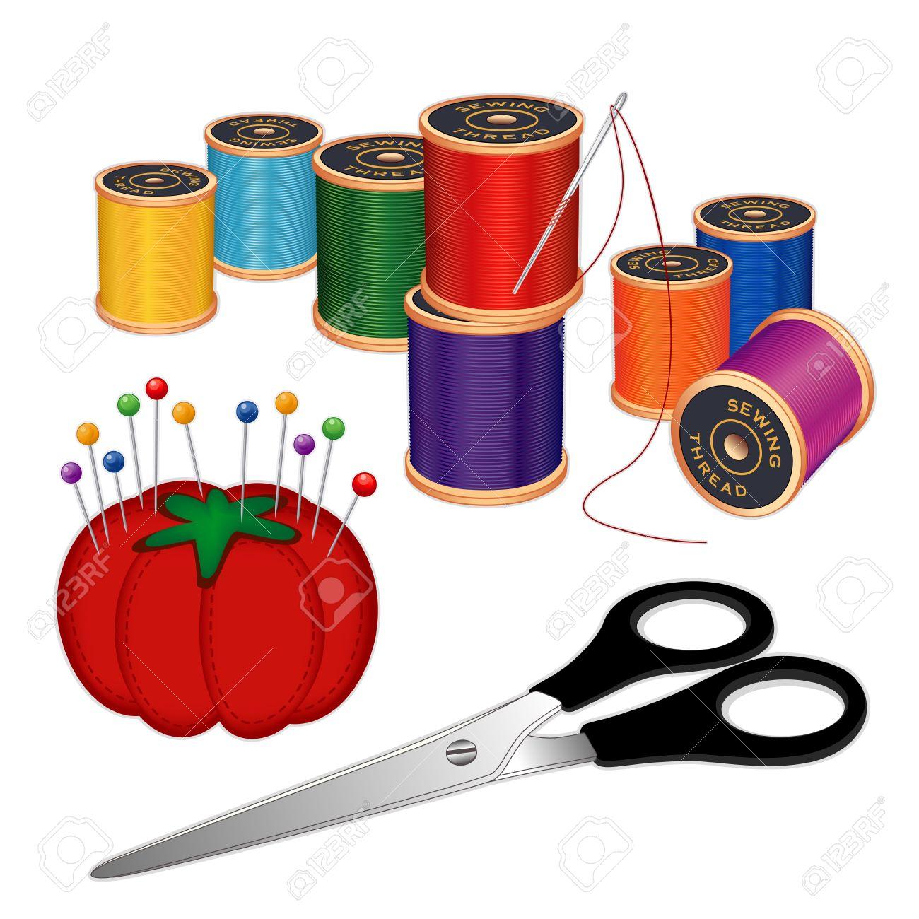 Kit Per Cucire Con Ago D'argento, Rocchetti Di Filo Multicolore.