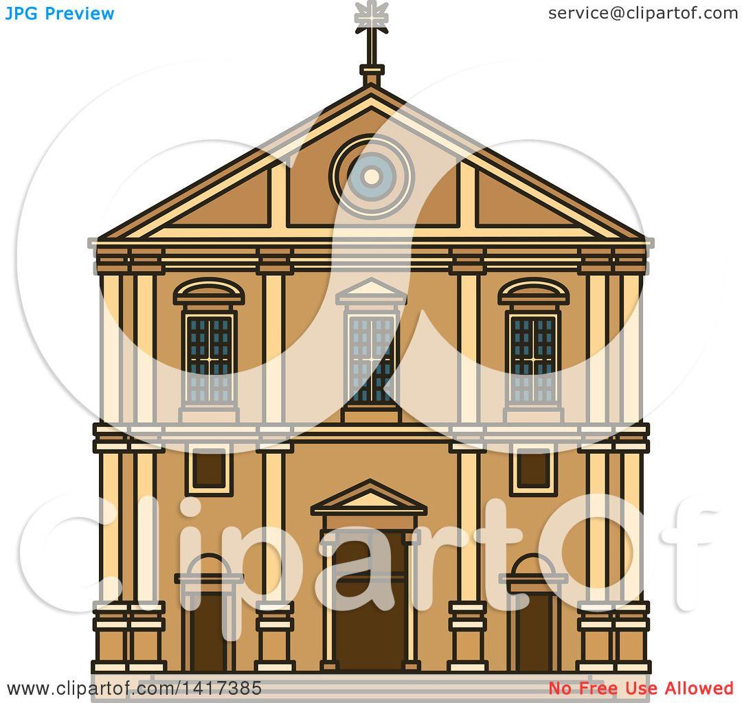 Clipart of a Portuguese Landmark, Church of Saint Roch.