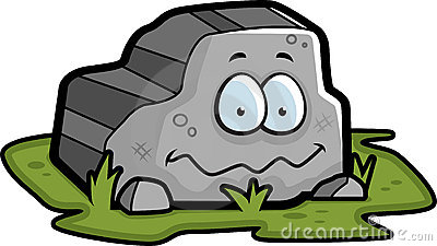 Cartoon Rock Family Stock Vector.