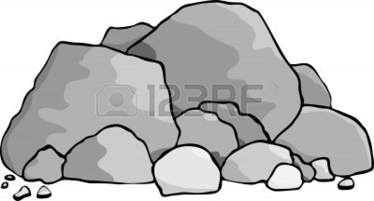 Pile Of Rocks Vector.