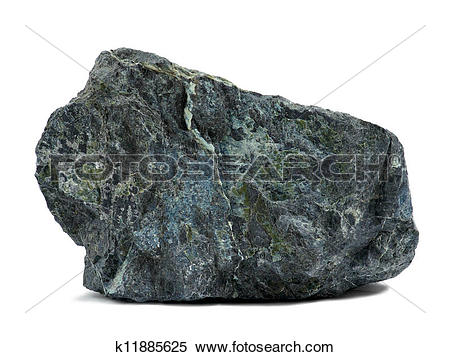 Stock Image of Rock on white k11885625.