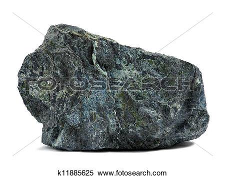 Stock Image of Rock on white k11885625.