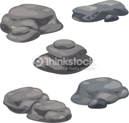 Rocks And Rubble Vector Art.