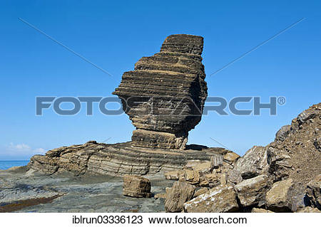 """Stock Photo of """"Roche Percee rock formation, near Bourail, South."""