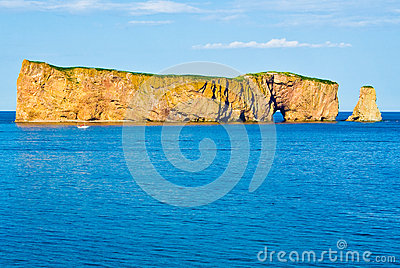 Rocher Perce, Quebec Royalty Free Stock Photo.