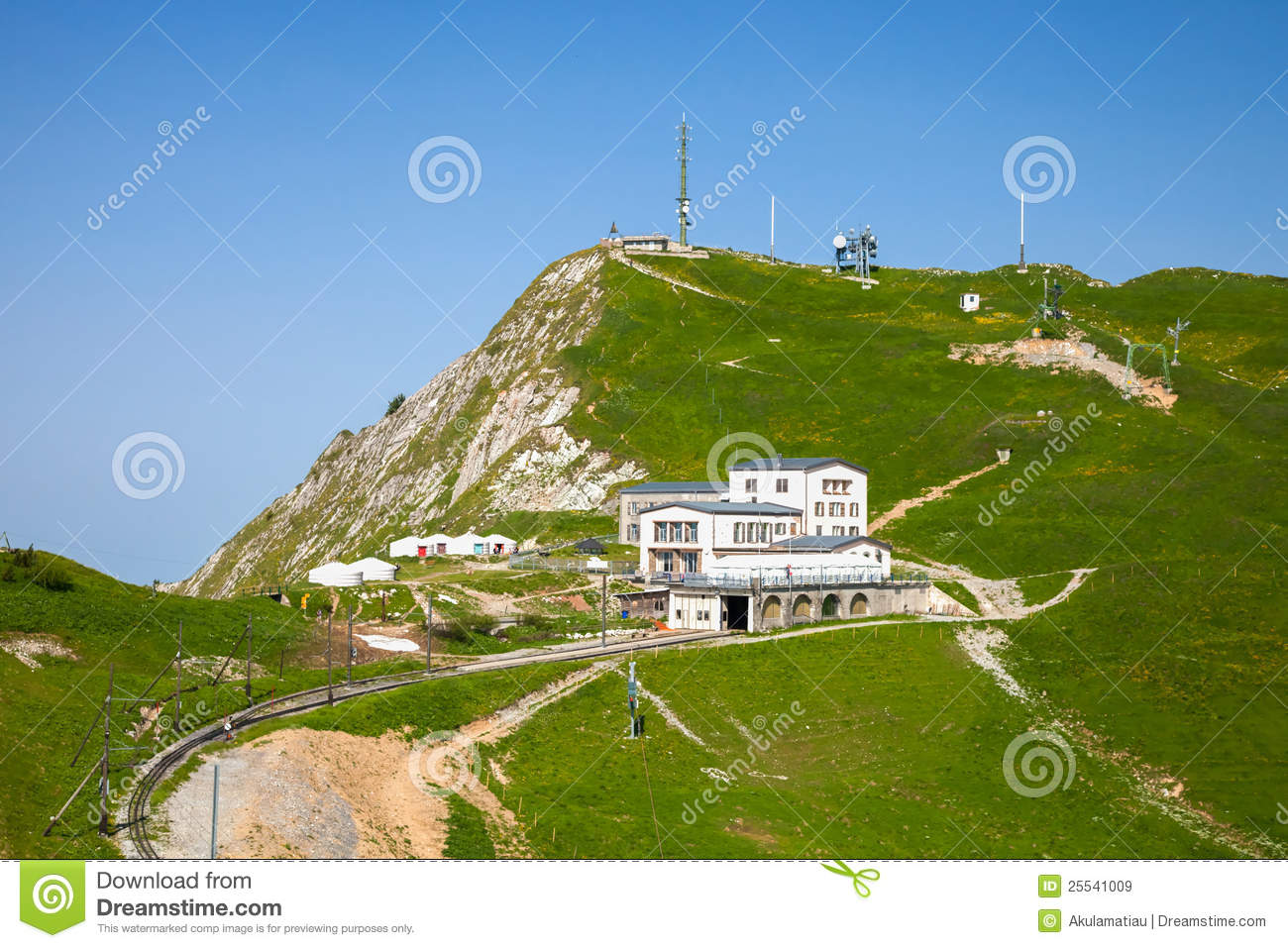 Rocher De Naye III, Switzerland Royalty Free Stock Images.