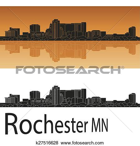 Clip Art of Rochester MN skyline k27516628.