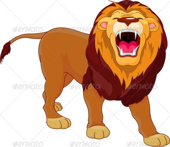 Ferocious lion clipart.
