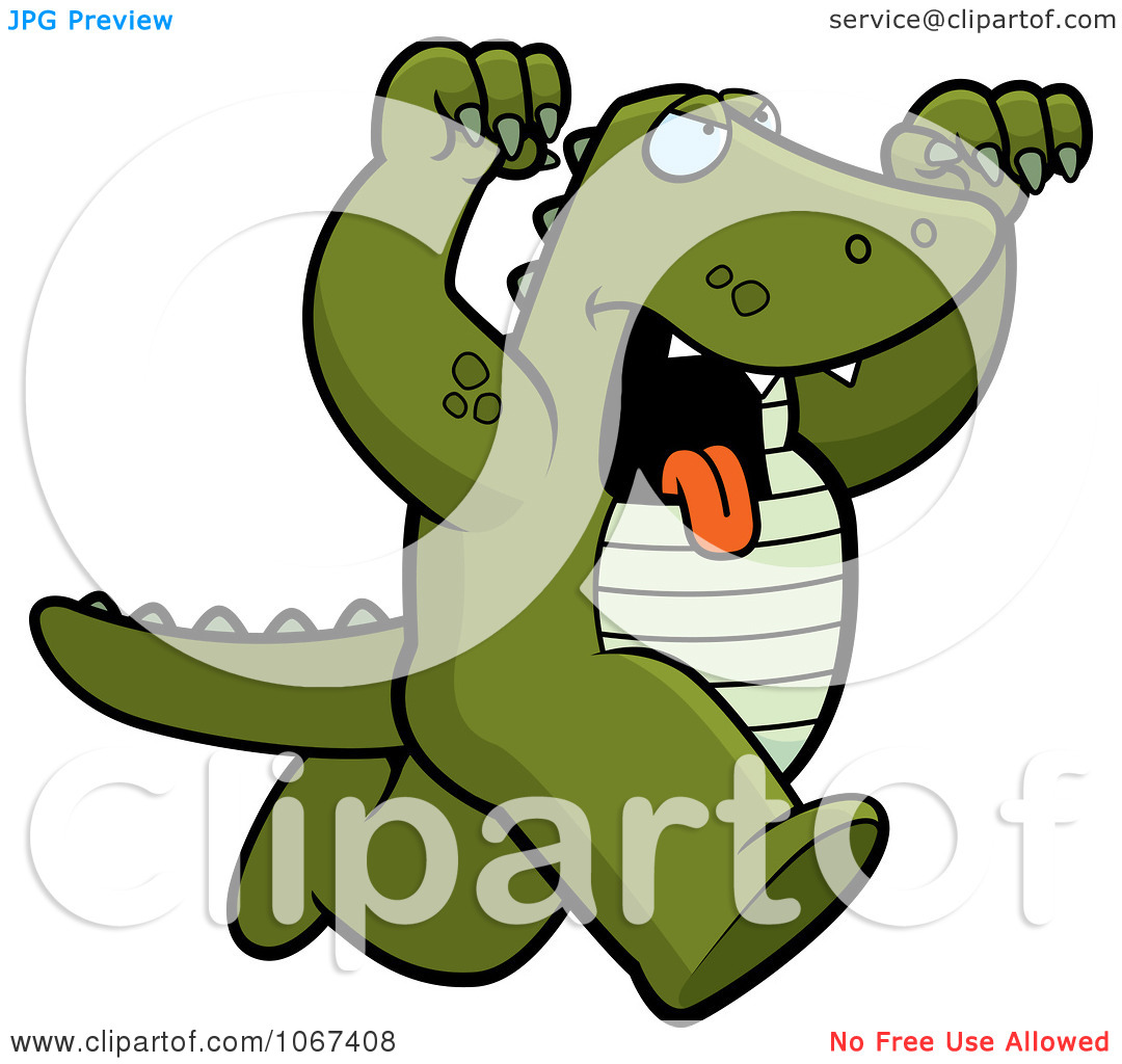 Clipart Ferocious Alligator Attacking.