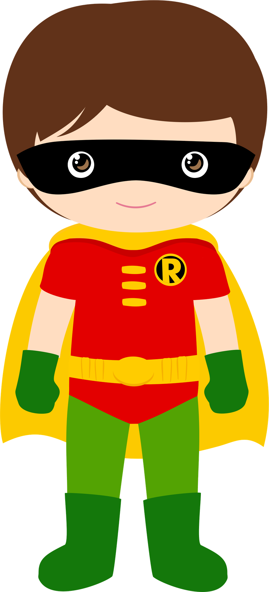 Robin Superhero Clipart.