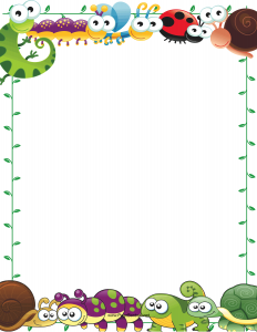 Cute Printable Page Borders.