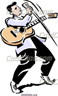 Rock And Roll Guitar Clip Art.