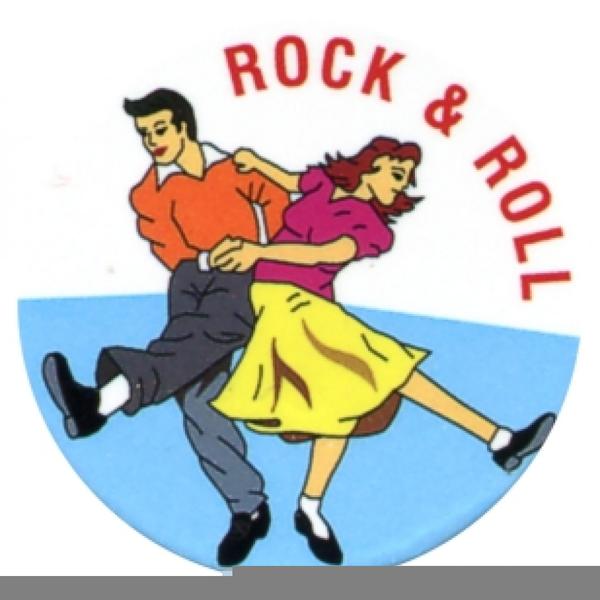 Rock N Roll Dancing Clipart.