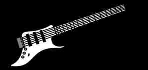 6904 Guitar free clipart.
