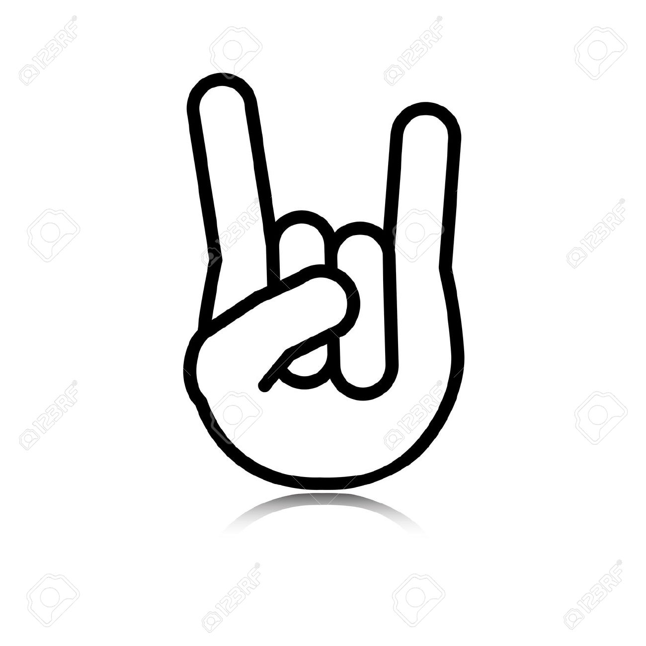 Rock N Roll Hand Sign Clipart.
