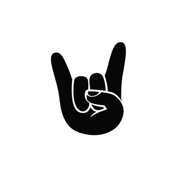 Rock N Roll Hand Silhouette.