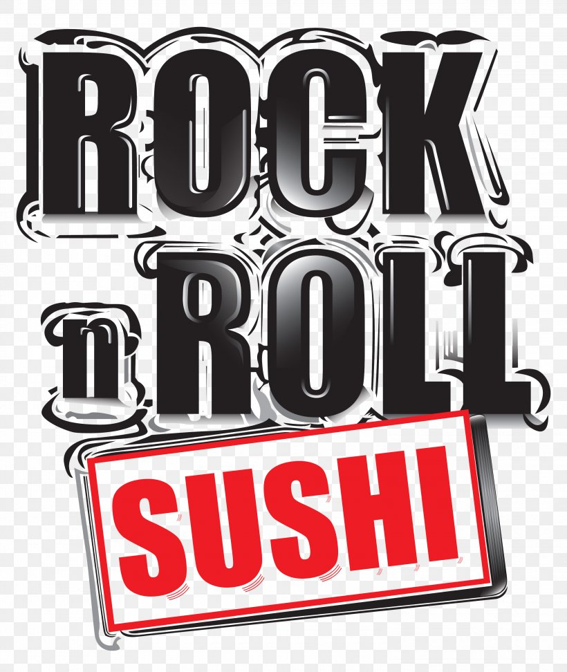 Logo Rock N Roll Sushi Brand Clip Art, PNG, 3000x3558px.