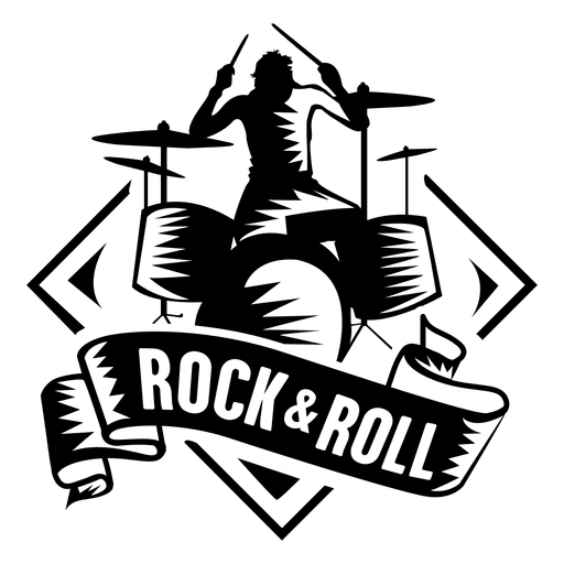 Rock and roll badge.