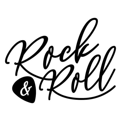 Rock and roll text logo.